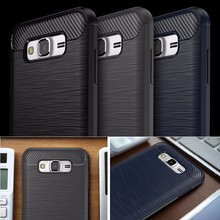 Silkprint Pattern Antislip Carbon Fiber Look TPU Case Mobile Phone Back Cover For Samsung Galaxy J5 2016