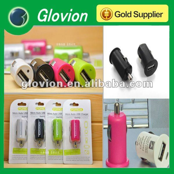 Best sale micro usb mains charger promtional mini charger colorful usb micro car charger