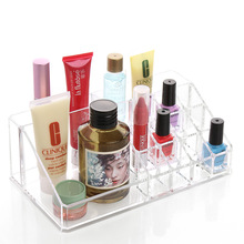 2016 New Hard Acrylic Cosmetic Box Makeup Kit Storage Boxes Cosmetic For Ladies