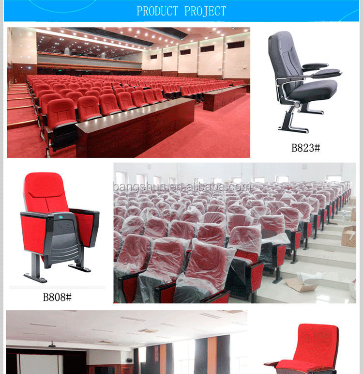 newest ,comfortable and durable auditorium seating chair