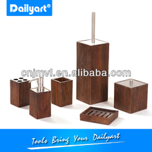 Elegant wooden bathroom accessory set(V035002)