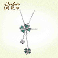 Fashion New Four Leaf Clover Necklace 925 Silver Jewelry