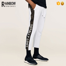 Wholesale White Jogger Stripe Panel Running Gym Men Pants