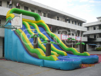 2016 Hot Sale Giant Inflatable Double Water Slide Commercial Grade Inflatable Water Slide