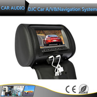 7 inch Auto Electronics Headrest DVD Player removable headrest dvd player with USB/SD/GAME/IR/FM transmitter