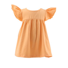 2017 KAIYO new arrival fashion design small girls dress pretty design baby frock designs peach wholesale girls tunic dress