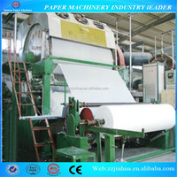 Toilet tissue paper making machine, waste paper recycling(low investment,high return)