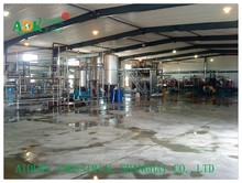 The complete processing line for tomato paste