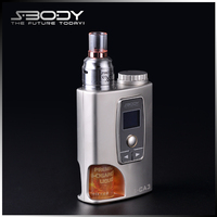 s-body new released ecigs s-body adjustable voltage battery 18650 sub ohm box mod set