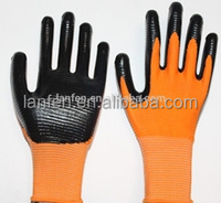 Zebra Stripe Nitrile Coated Work Gloves