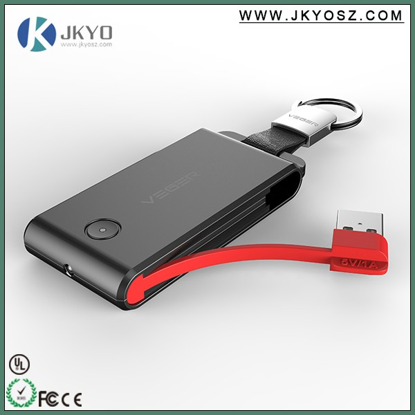 2016 hot products Built-in Cable power bank 1500mah, key ring portable power bank hot selling in amazon.com