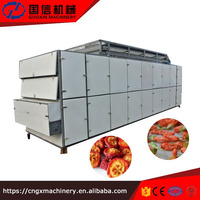 continuous type hot air dryer for fresh fruit