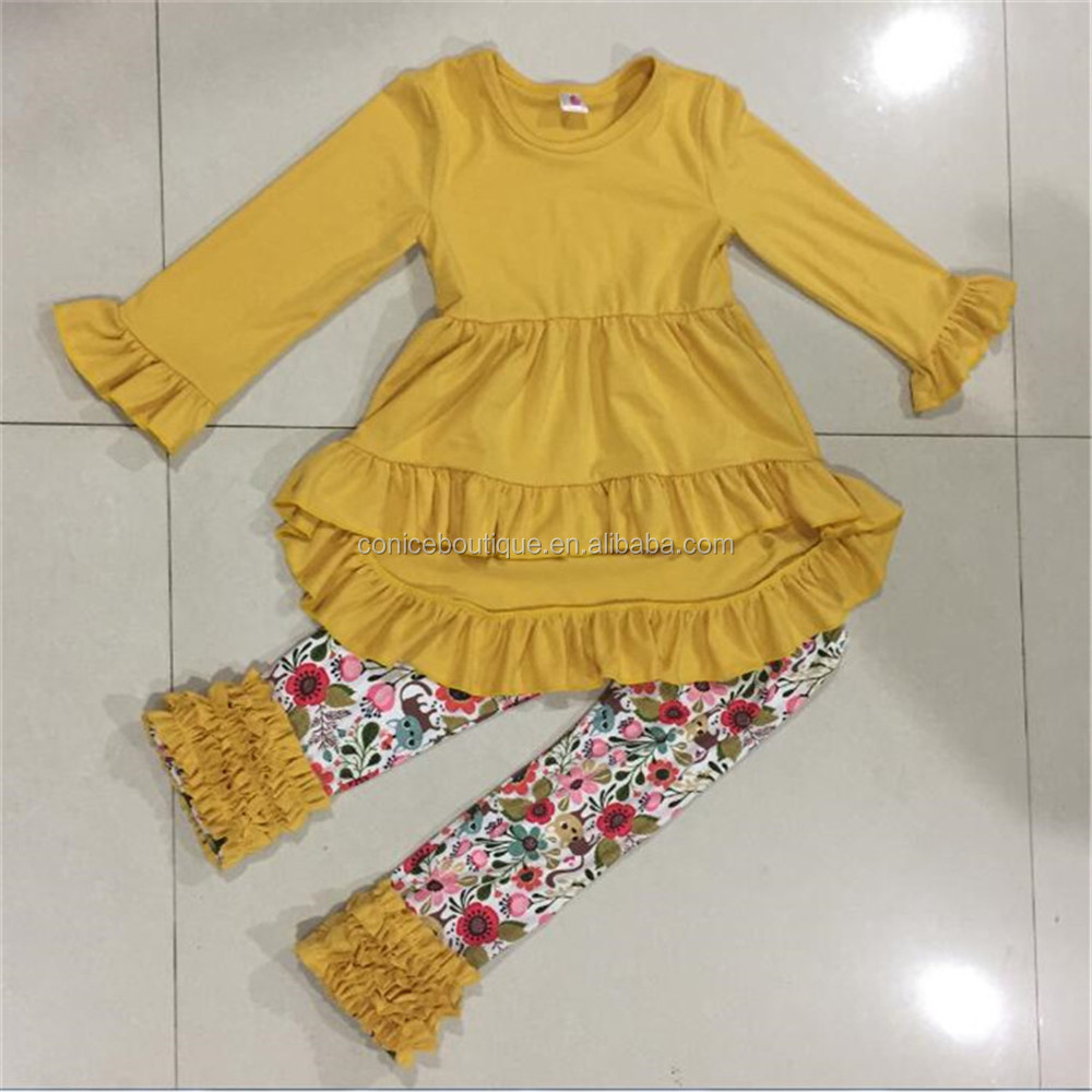 Factory Direct Sale Halloween Clothing wholesale Girls Fall Boutique Outfits Ruffle Pants Kids