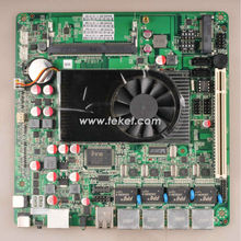 Network Firewall Board D525MF Atom D525 Mini-ITX Motherboard,Dual Core 1.8Ghz,4 LAN PORTS+12V DC IN,Network Server