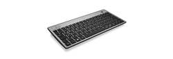 Wireless super-mini keyboard with built-in trackball and two mouse buttons