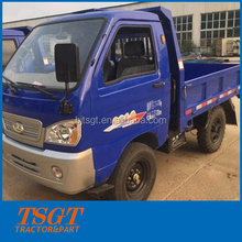 2 tons loading mini light truck four wheels diesel tricycle 7 shift and hydraulic self-dumping