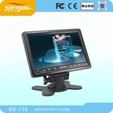 Guangzhou factory 7 inch car tv monitor with usb