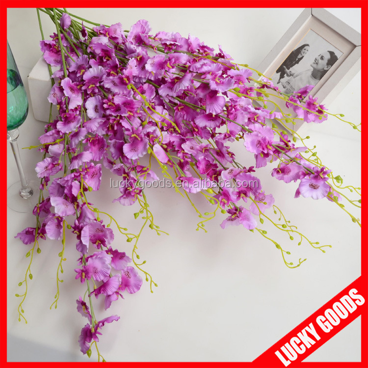 wedding or event used silk purple orchids wholesale