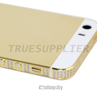 Luxury 100% real 24ct gold plated housings for iphone 5s , platinum plated for apple iphone 5s gold