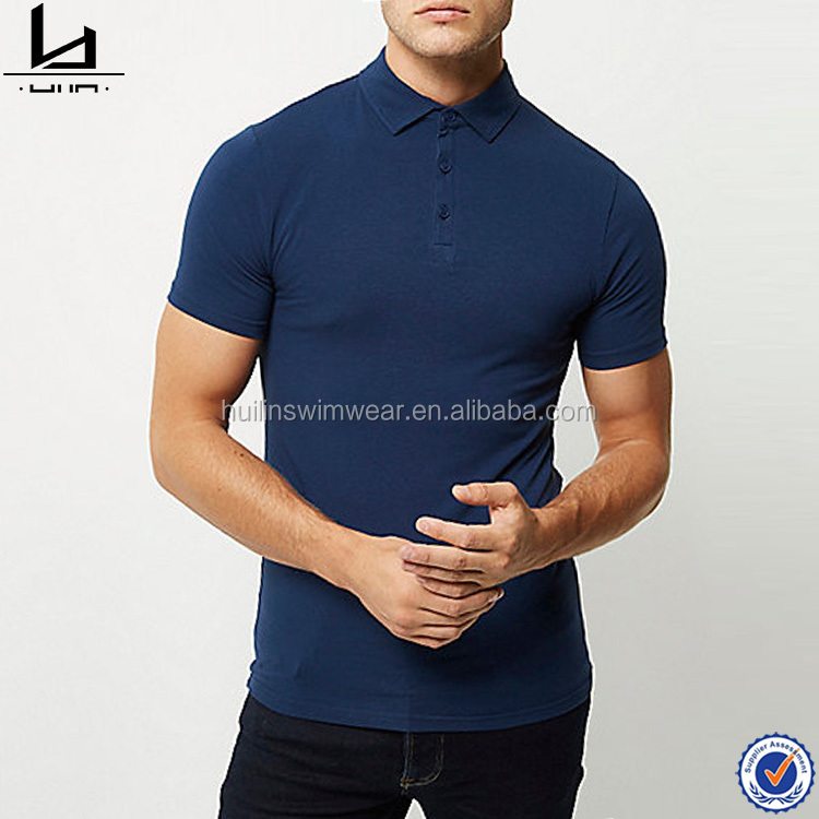 Solid color new design short sleeve muscle fit men polo t shirt