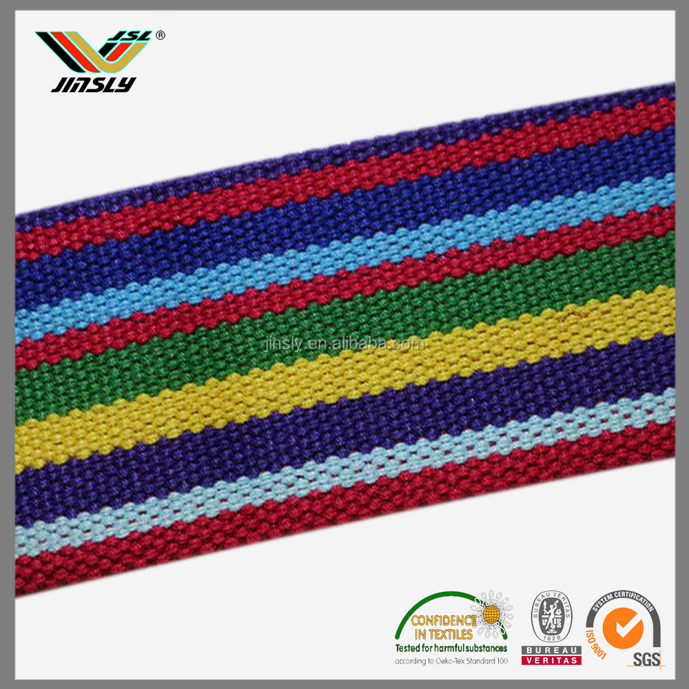 50mm woven colorful twill Polyester Leisure Bags band