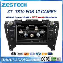 double din car stereo for Toyota Camry 2012 car stereo touch screen bluetooth with cd player gps navigation autoradio audio mp34