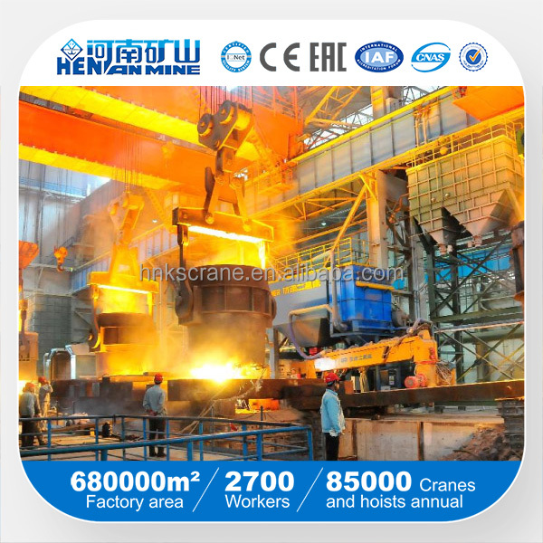 30t waste iron buckets lifting crane system for still mill plant
