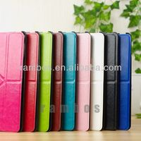 Leather Smart Cover Case Folding Stand Case for iPad 5 with Clear Hard Back Cover for iPad Air
