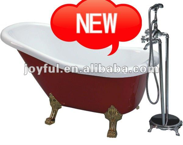 Red cast iron bathtub color(MV009G-R)