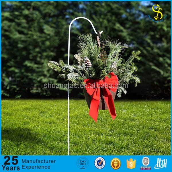 Alibaba best supplier black iron production shepherd's hook & garden shepherds hook & shepherds hook for wedding