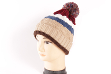 Jacquard Knitted Warm Ski Beanie womens knitted Winter Hat
