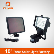 Hot Selling 60LED 50w 100W powered outdoor wall motion sensor lamp flood led solar security light