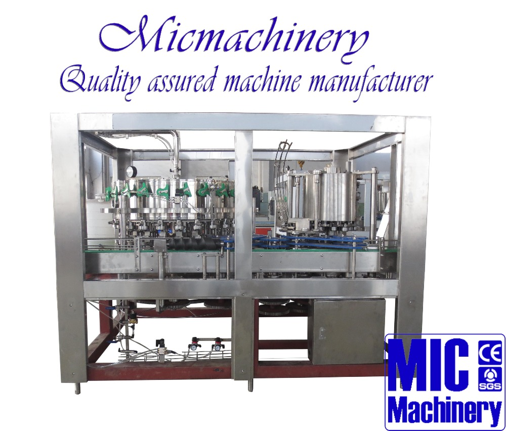 MIC-32-8 Top quality Professional manufacturer Automatic Aluminum Pop Can Sparking Wine Filling Line 5000-12000can/hr with CE