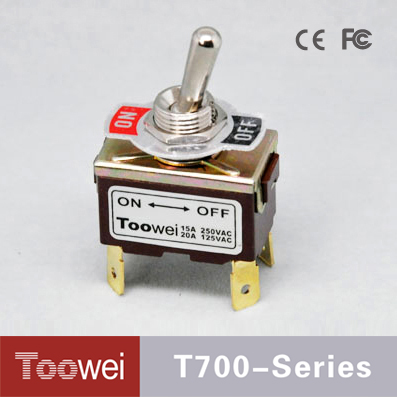 DPDT Waterproof 4 Pins 12mm (ON)-OFF slide 4 position toggle switch