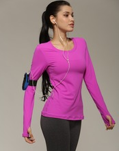Athletic kleding fabricage Fitness & Yoga Wear Sportkleding Type en polyester + nylon Materiaal gym t-shirt