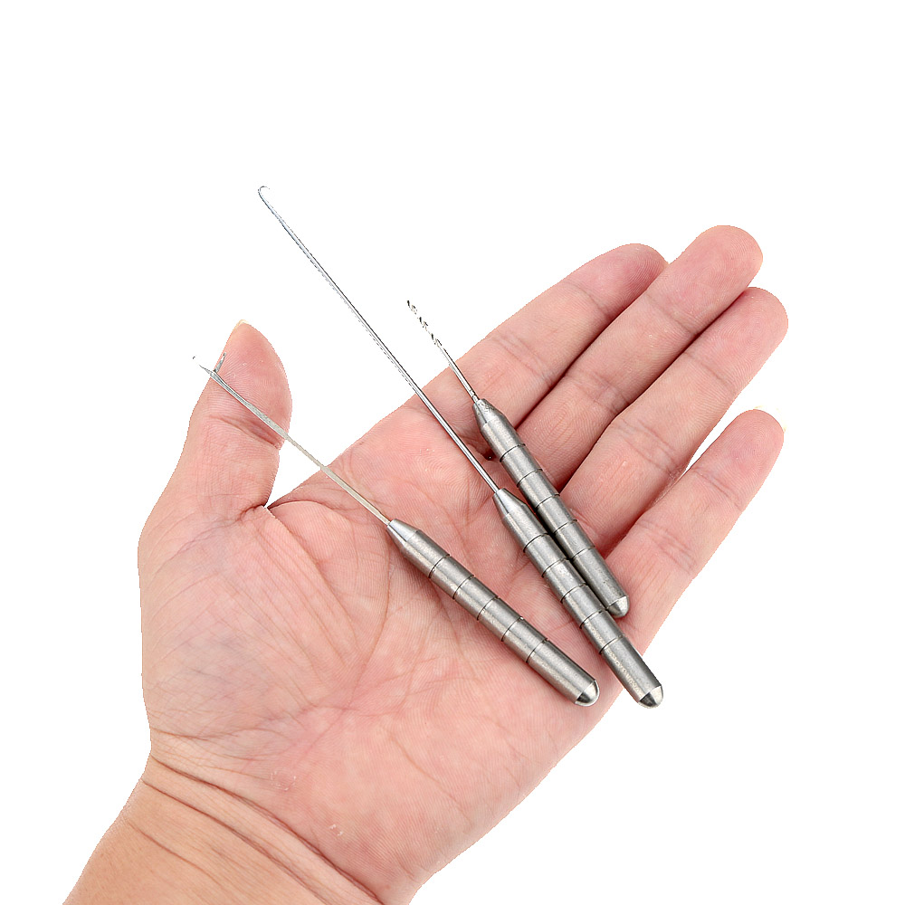 Hot Sale Stainless Steel 3 in 1 Carp Fishing Rigging Bait Needle Kit Tool Set Fish Tackle Tool
