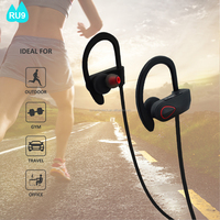 Wireless waterproof bluetooth headphones BT 4.1 stereo bluetooth headset built-in mic for cell phones RU9