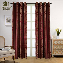 Cationic Effect Polyester Royal Style Jacquard Curtain
