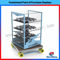 Customized shopping mall supermarket cube display cabinets for sunglass