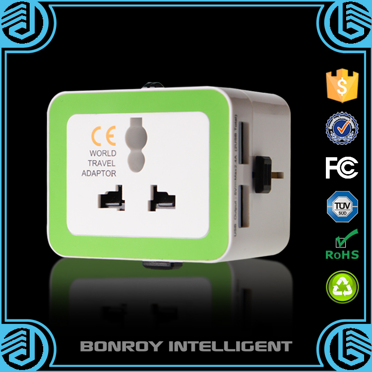 Bonroy newest design world travel socket hotel business electronic hot christmas gift in 2015