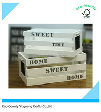 Wholesale Natural Decorative Craft Small Cheap Wooden Crates