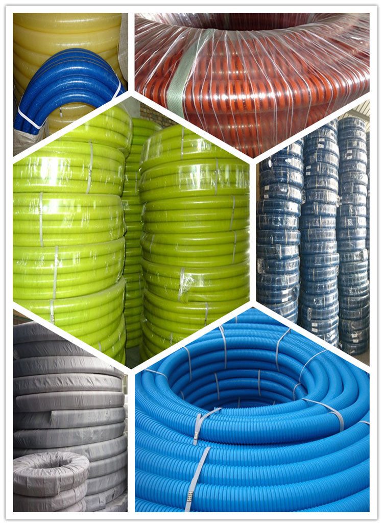 flexible PVC Suction water hose/ manguera pvc tube para suction pipe