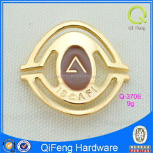 Q-3706 blank nameplate gold metal label unblemished logo plate