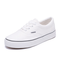 Latest Fashion Spring Autumn Women And Men Canvas Shoes White Blank Casual Shoes Men