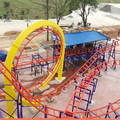 China Cheap Price Park Thrilling Entertainment Rides 12 Seats Stacked Roller Coaster for sale