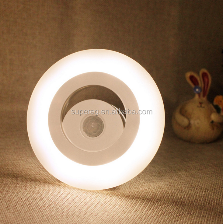 Batteries Powered Stick Tap LED Touch Lamp Round Veilleuse Mini Cordless Kids Touch Lamp