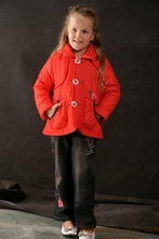 designer childrens coats luomiana coats small cotton-padded jacket