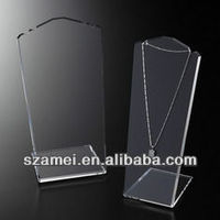 2014 hot acrylic jewelry display stand for necklace manufacturer