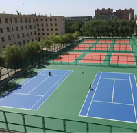 ITF certificate tennis acrylic court