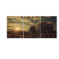 Animal Canvas Printing Big Elephant HD Canvas Prints Canvas Art for Home Decor Wild Life Prints 3 Panels